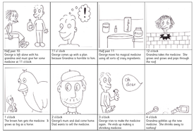 George's Marvellous Medicine timeline/sequence activity KS1