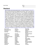 Stasiland - Word Search