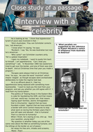 Stasiland - Close study of a passage: Interview with a celebrity
