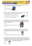 Consumer rights quiz