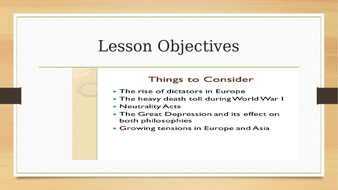 Rise of Dictators.