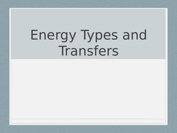 Energy types and transfers