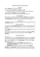 Digestive system crib sheet
