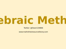 7)-Algebraic-Methods.pptx