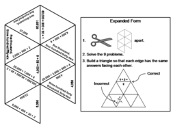 expanded form puzzle  Expanded Form: Math Tarsia Puzzle