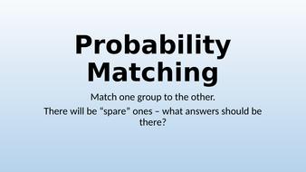 Probability Matching