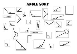 Angle sorting worksheet activity