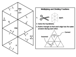 Multiplying and Dividing Fractions Game: Math Tarsia