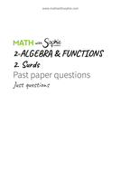 2.2.Surds-PastPapers-JustQuestions-MathWithSophie.pdf