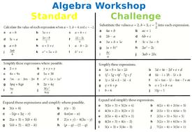 Algebra revision worksheet expanding factorising and simplifying worksheet algebra revisionpptx ibookread ePUb