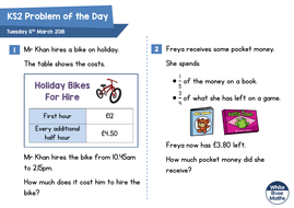 white rose maths ks2 problems of the day 2018 by wrmaths teaching resources tes. Black Bedroom Furniture Sets. Home Design Ideas