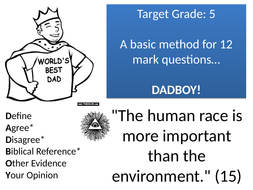 Religious Studies (OCR B) 'Answering 15 Mark Questions' Pack  [Display, Worksheet, PPT](Exam Tech...