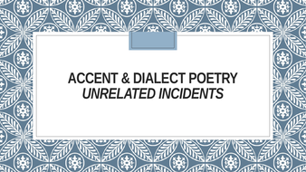 Accent And Dialect Poetry