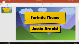 Fortnite powerpoint template by jsarnold teaching resources tes fortnite powerpoint themepptx capture00104032018200308g toneelgroepblik Gallery