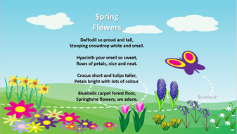Spring Poems By Eslaloud Teaching Resources Tes