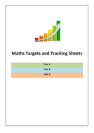 Maths Targets and Tracking Sheets for Year 1, Year 2 and Year 3