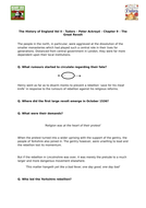 Tudors - Peter Ackroyd - Chp 9 -The Great Revolt - Supporting Worksheet