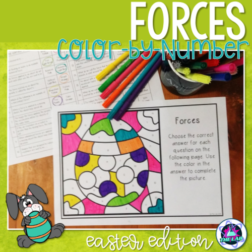 Easter Themed Science Colour-by-Number Activity: FORCES