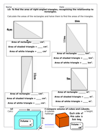 Perimeter Area & Volume Y6 Differentiated Mastery Challenges Free Taster