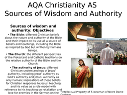 Sources of Wisdom and Authority AQA AS Christianity