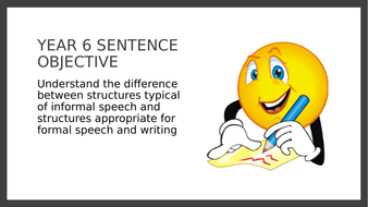 Year 6 SPAG PPT and Assessment: Formal and Informal Sentence Structure