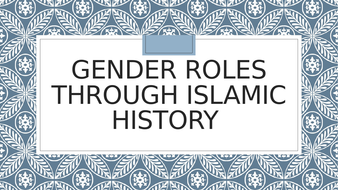 Gender role changes throughout history