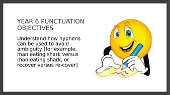 Year 6 PPT and Assessment: Hyphens