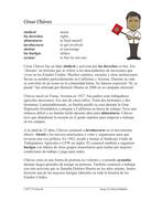 César Chávez Biografía: Spanish Biography on Chicano Activist Cesar Chavez