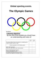 Global Sports events. OCR A level. student booklet Olympic games