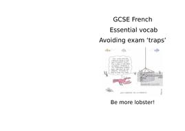 GCSE French  - avoiding exam traps, listening and reading