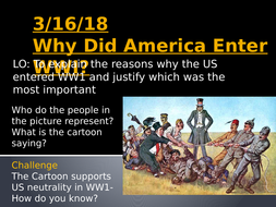what caused us to enter ww1
