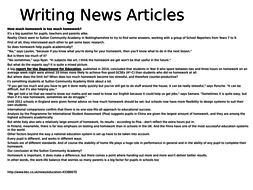 Writing Newspaper Articles - read a model, analyse it and plan your own
