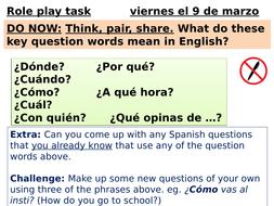 GCSE Spanish (9-1) Role play task