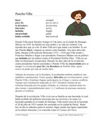 Pancho Villa Biografía - Mexican Revolution Reading and Biography + Worksheet