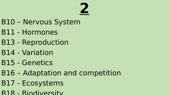 Biology thesis topics