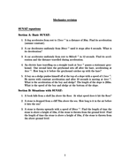 SUVAT revision worksheet (new specification)