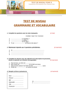 3 PROGRESS TESTS YEAR 8/ 9: Vocab, Grammar and Reading & Writing tasks