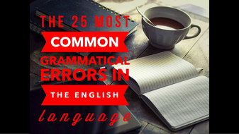 most common errors in english