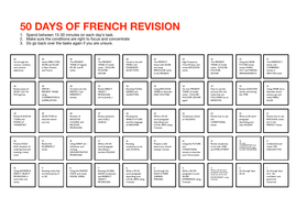 50 Days of French Revision Plan