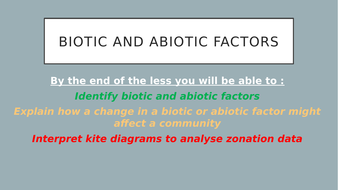Biotic and abiotic factors kite diagrams and exam questions by biotic and abiotic factorspptx ccuart Images
