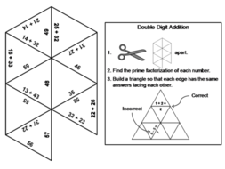 Double Digit Addition Without Regrouping Game: Math Tarsia Puzzle