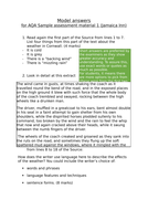 AQA GCSE English Language Paper 1 model answers