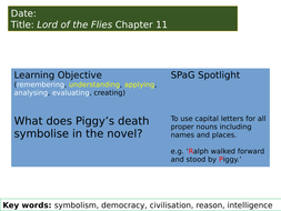 what does piggy symbolize in lord of the flies