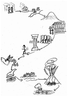 Shortened version of Escape from Pompeii for storytelling