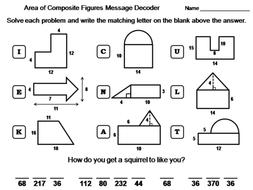 Area of Composite Figures Activity: Math Message Decoder