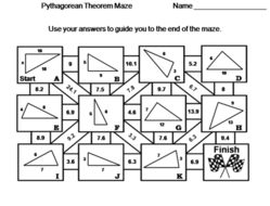 Pythagorean Theorem Activity: Math Maze by ScienceSpot