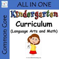 Kindergarten ELA and Math Curriculum (Common Core Aligned)