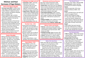GCSE 9-1: Weimar and Nazi Germany 2 Page History
