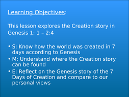 days of creation powerpoint
