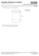GCSE 9-1 Exam Question Practice (Spheres, Cones